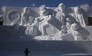 جشنواره برف ساپورو در ژاپن (عکس)