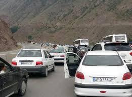 ترافیک سنگین در جاده هراز، چالوس و فیروزکوه