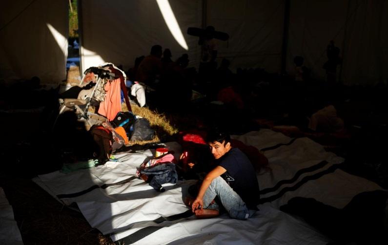 مهاجران هندروراس در مرز مکزیک