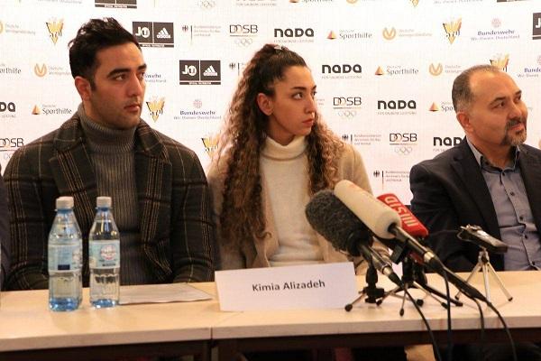 جدیدترین تصویر از کیمیا علیزاده و همسرش در آلمان (عکس)