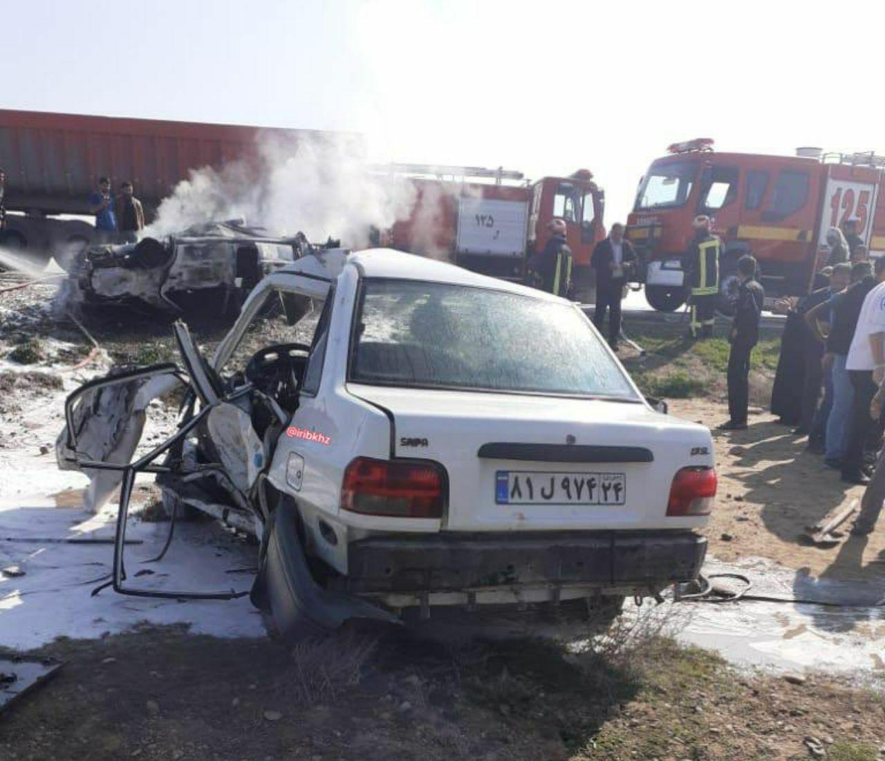 ۵ کشته در تصادف جاده ماهشهر خوزستان