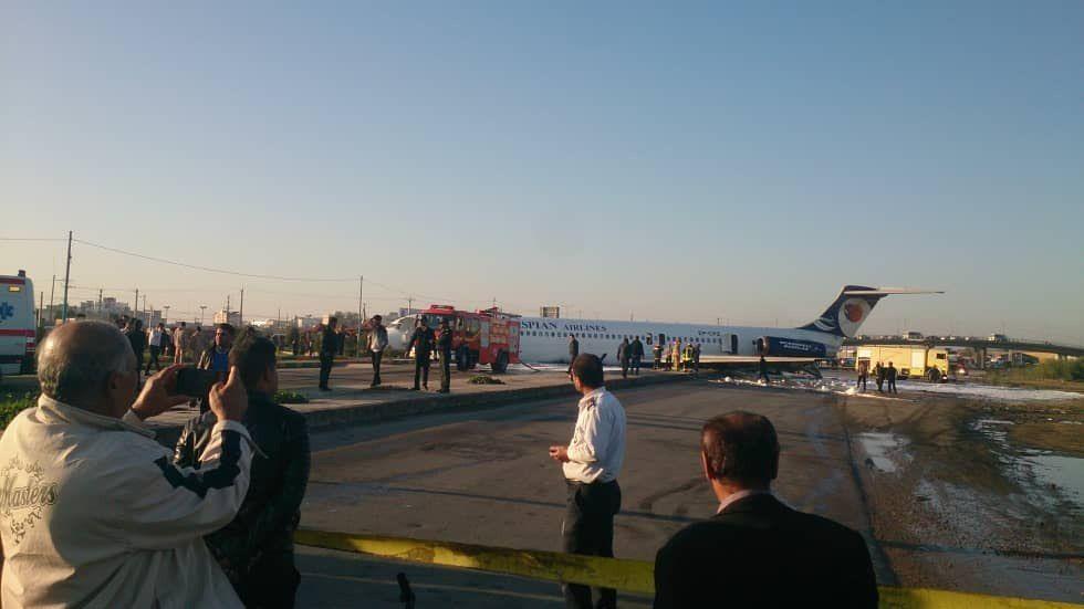 حادثه برای هواپیمای مسافری در ماهشهر (عکس)
