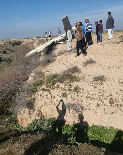 سقوط یک شیء پرنده در اطراف ملاثانی خوزستان (فیلم و عکس)