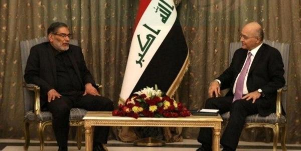 دیدارشمخانی با رئیسجمهور عراق