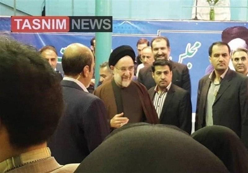 سید محمد خاتمی در انتخابات شرکت کرد (عکس)