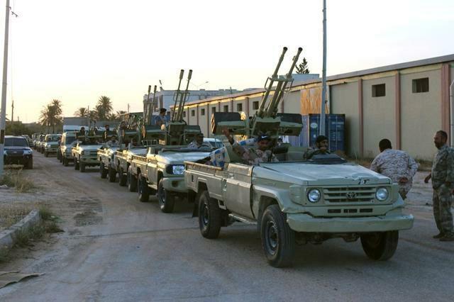 لیبی نیروهای طزلبلس