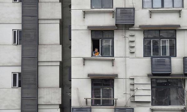 ساختمانی قرنطینه در ووهان چین