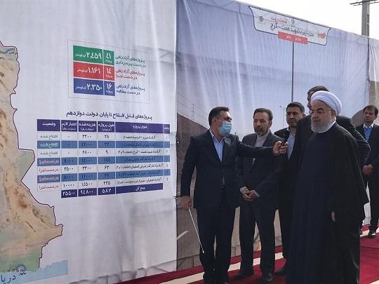افتتاح پروژه همت-کرج با حضور رئیس جمهور