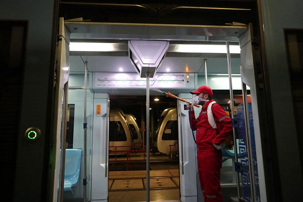 ضد عفونی واگنهای مترو