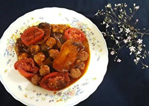 طرز تهیه گوشت قلقلی و بادمجان
