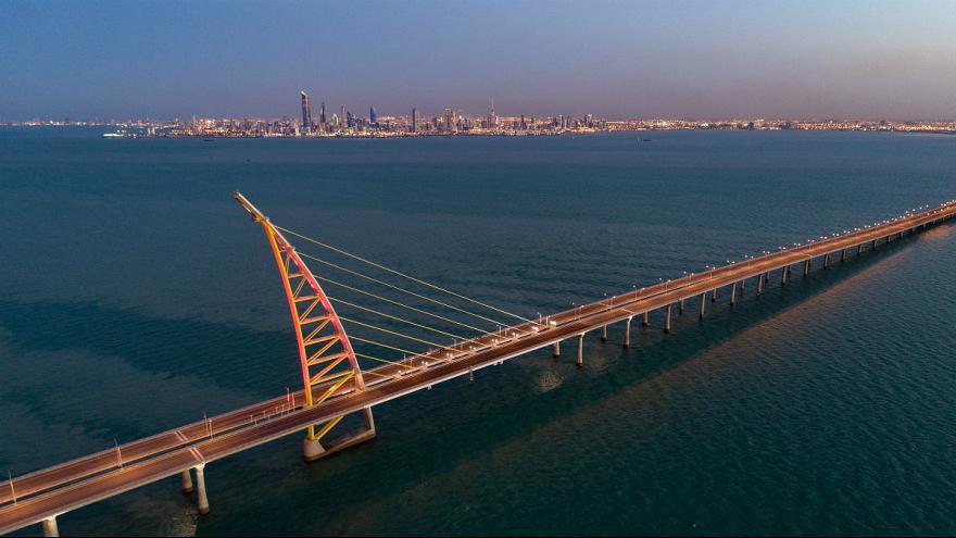 کویت 36 کیلومتر پل روی خلیج فارس زد
