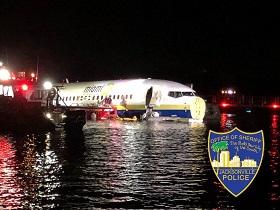 سقوط یک فروند هواپیمای مسافربری بوئينگ 737 آمریکا