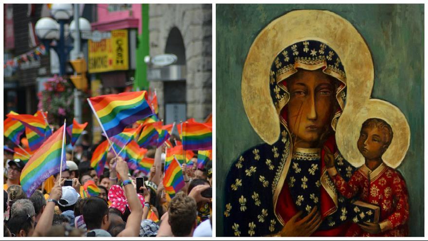 بازداشت زن لهستانی به اتهام تلفیق تصویر «مریم مقدس» با پرچم همجنسگرایان