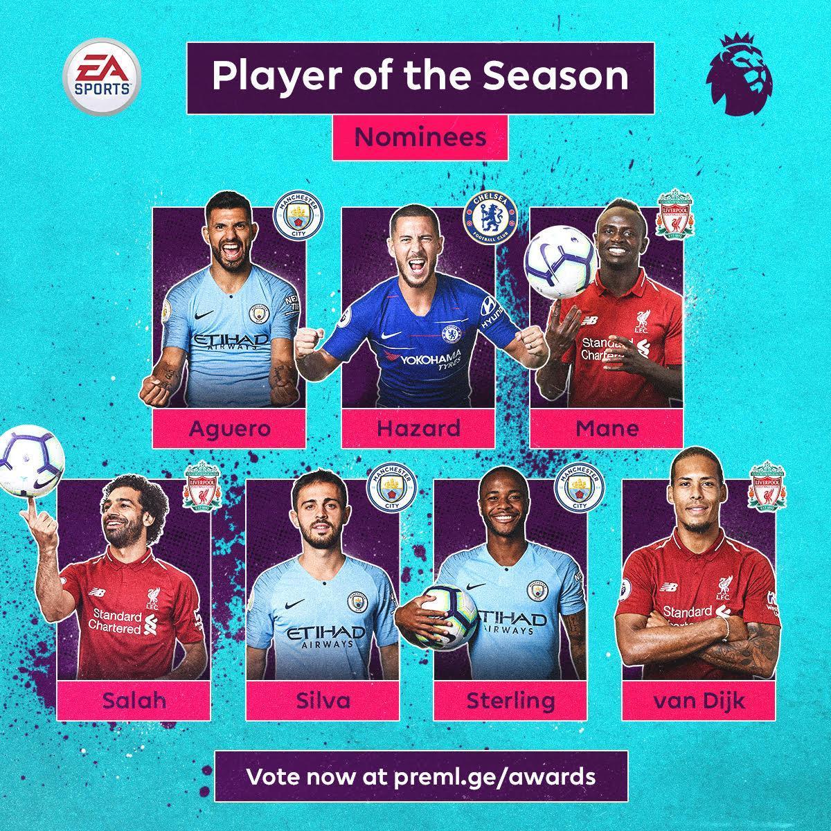 کاندیدهای بهترین بازیکن فصل انگلیس معرفی شدند (عکس)