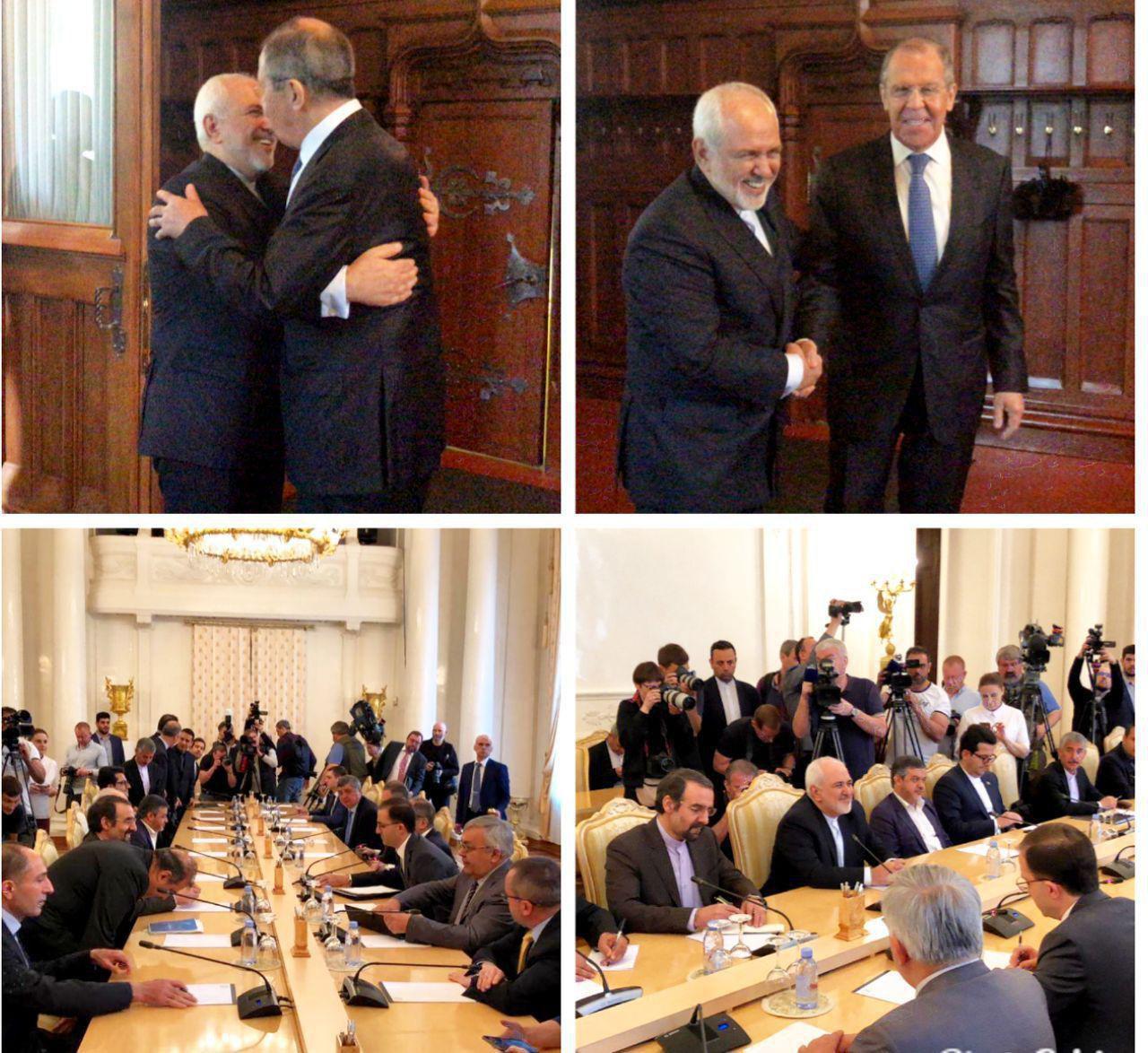 استقبال وزیرخارجه روسیه از ظریف (عکس)