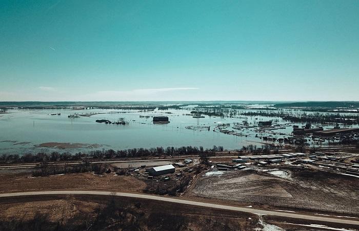 سیل بزرگ در ایالت نبراسکای آمریکا: 1.3 میلیارد دلار خسارت (+تصاویر/فیلم)