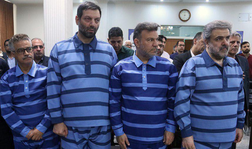 متهمان پرونده شرکت پدیده در دادگاه (عکس)
