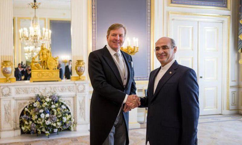 سفیر جدید ایران استوارنامه خود را تقدیم پادشاه هلند کرد