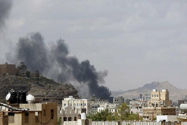 بمباران استان «عمران» یمن توسط جنگنده های سعودی