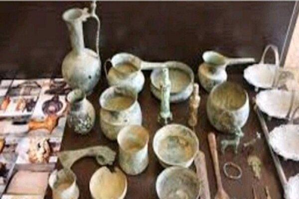 کشف 200 قطعه اشیای عتیقه مربوط به دوره ماقبل اسلام در آذربایجان شرقی