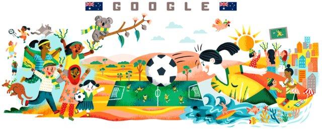 تغییر لوگوی گوگل به افتخار بزرگترین رقابت فوتبالی زنان