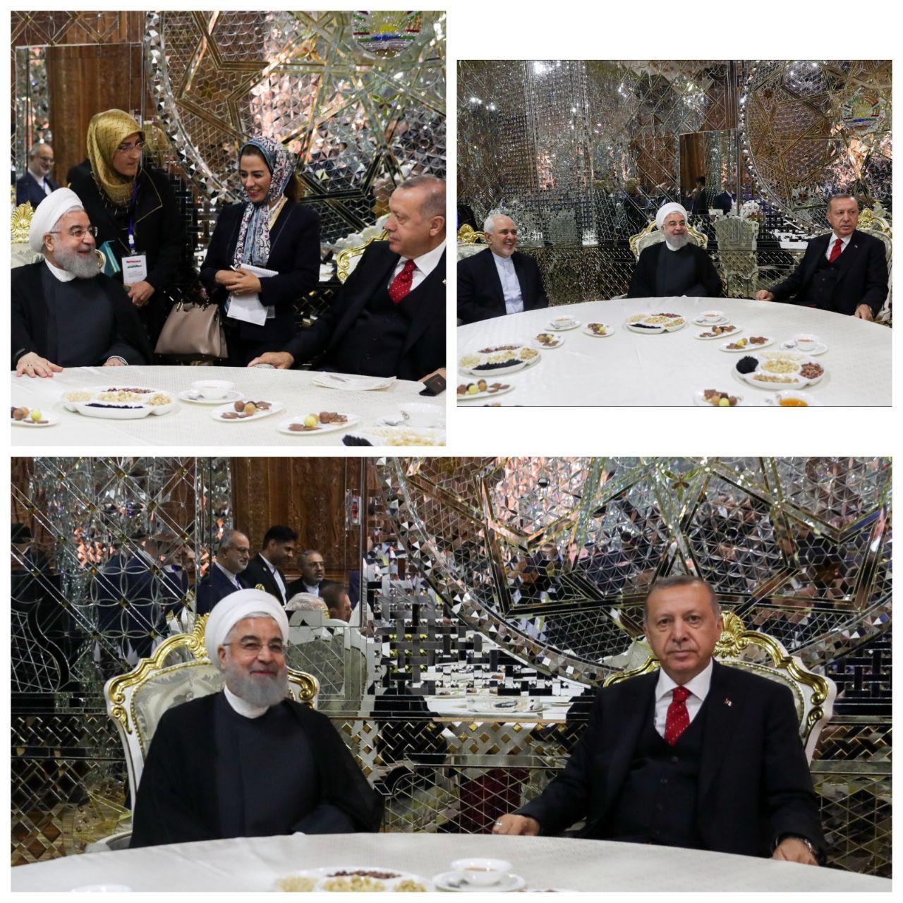 دیدار اردوغان و روحانی در تاجیکستان (عکس)