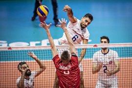 پیروزی تیم ملی والیبال ایران برابر روسیه