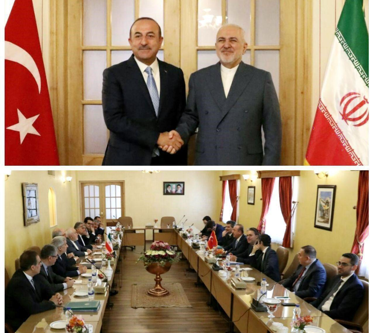 دیدار وزیران خارجه ایران و ترکیه در اصفهان (عکس)