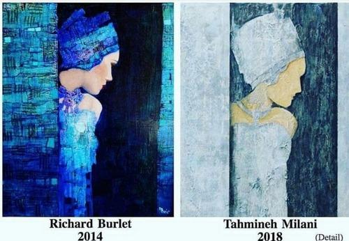 شکایت تهمینه میلانی، 35 ضربه شلاق برای نقاش جوان، کپی رایت و ...
