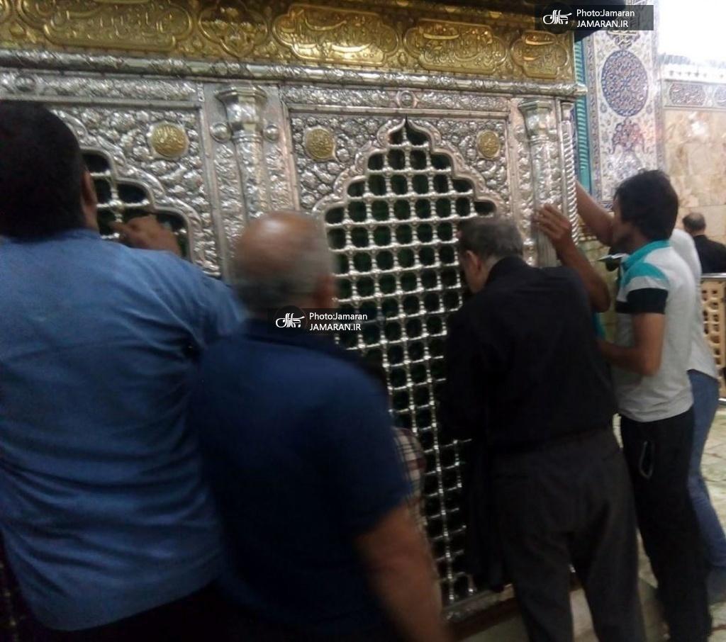 نجفی در حرم حضرت معصومه پس از ارتکاب قتل (عکس)
