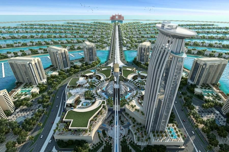 بزرگترین جزیره ساخت بشر در دوبی (عکس)