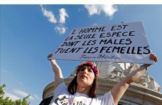 تظاهرات پاریس: به خشونت علیه زنان پایان دهید/ 74 زن توسط همسران خود کشته شدند