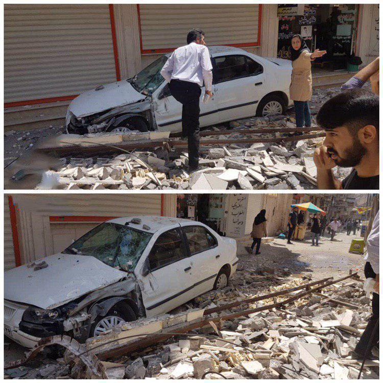 عکسی از خسارت زلزله در خوزستان