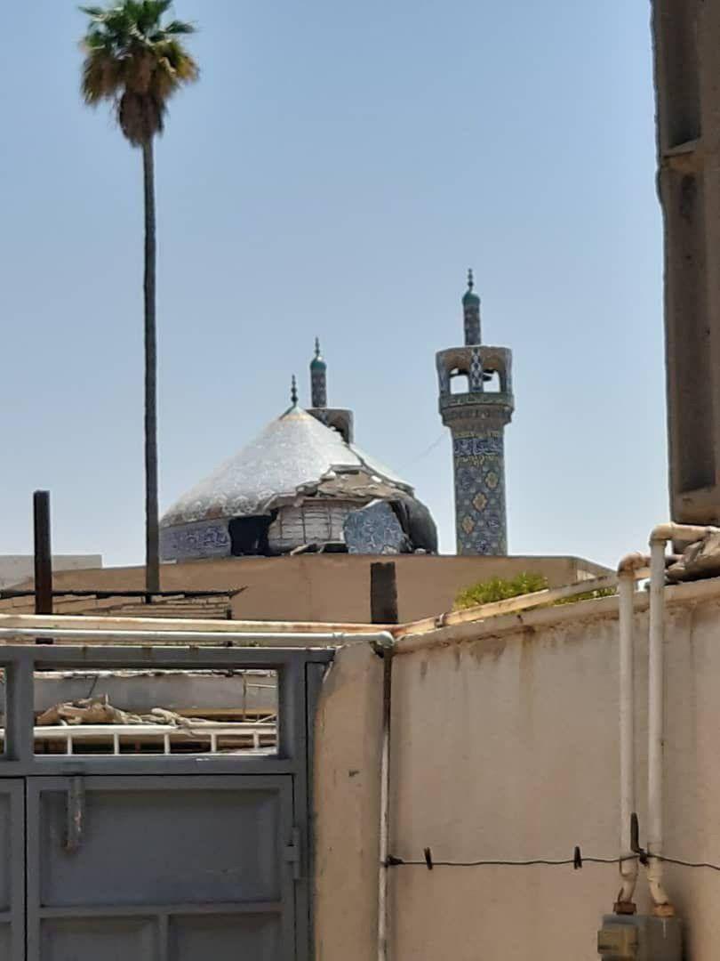 خوزستان؛ آسیب به گنبد مسجد جامع در اثر زلزله