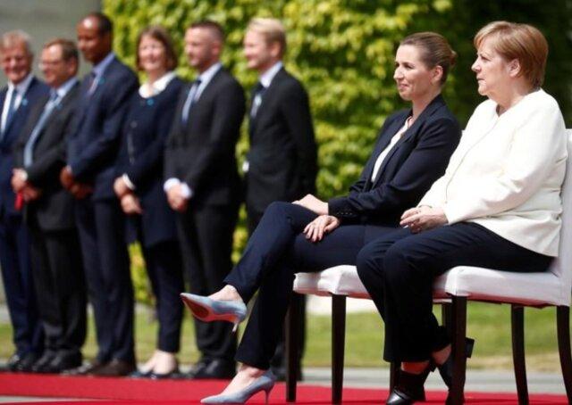 استقبال نشسته مرکل از نخست وزیر دانمارک
