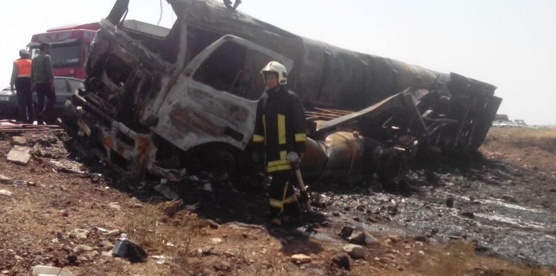 2 کشته بر اثر حریق تانکر حمل سوخت در خراسان رضوی