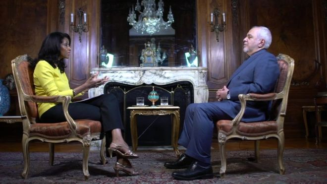 ظریف درگفتگو با بیبیسی: دستور حمله لغو شد چون به ترامپ گفته شد ایران دفاع خواهد کرد