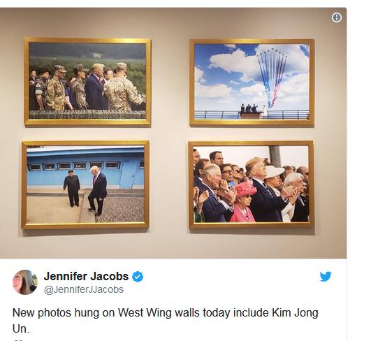 عکس رهبر کره شمالی به دیوار کاخ سفید نصب شد (+عکس)