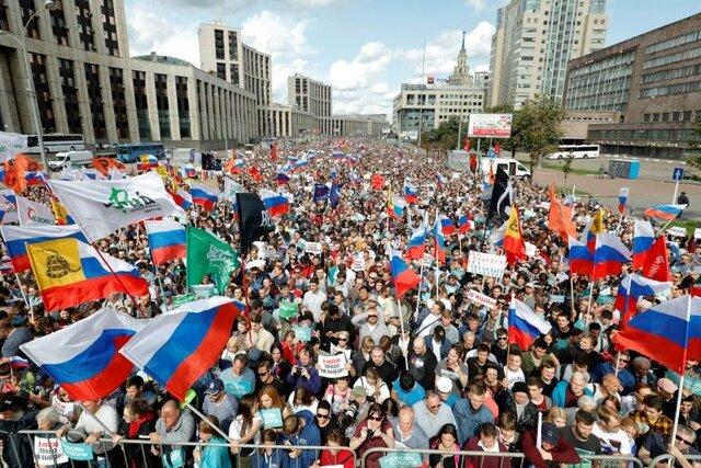 راهپیمایی مخالفان پوتین در مسکو