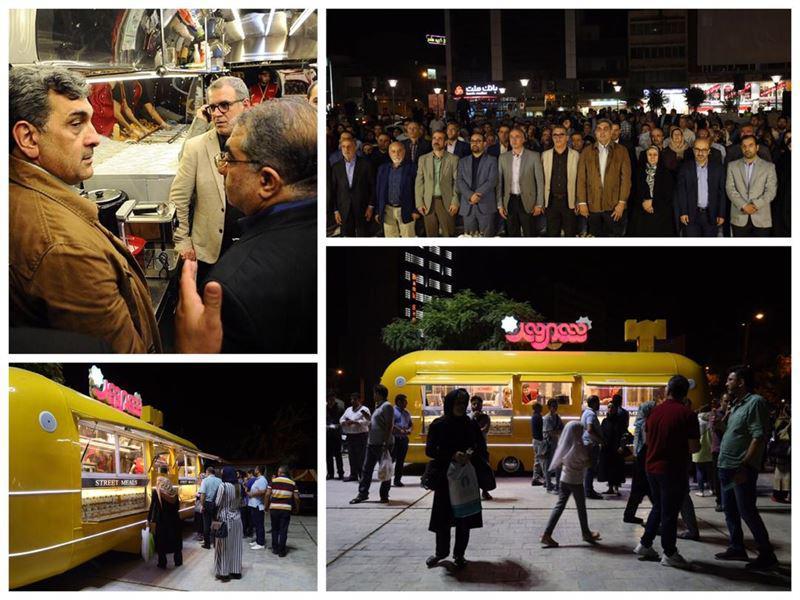 بهرهبرداری از فود تراک شهروند در میدانگاه شهدای هفتم تیر