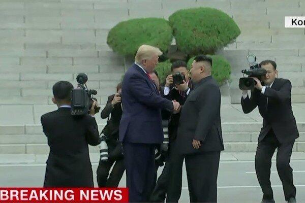 ترامپ وارد کره شمالی شد/ دیدار با «اون»