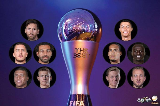 اعلام اسامی نامزدهای بهترین بازیکن سال فیفا