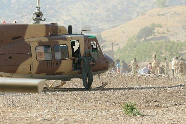 اعزام 3 فروند بالگرد ارتش برای مهار آتش در ارتفاعات کازرون
