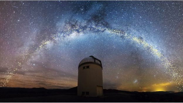 کهکشان راه شیری تخت نیست، پیچوتاب دارد
