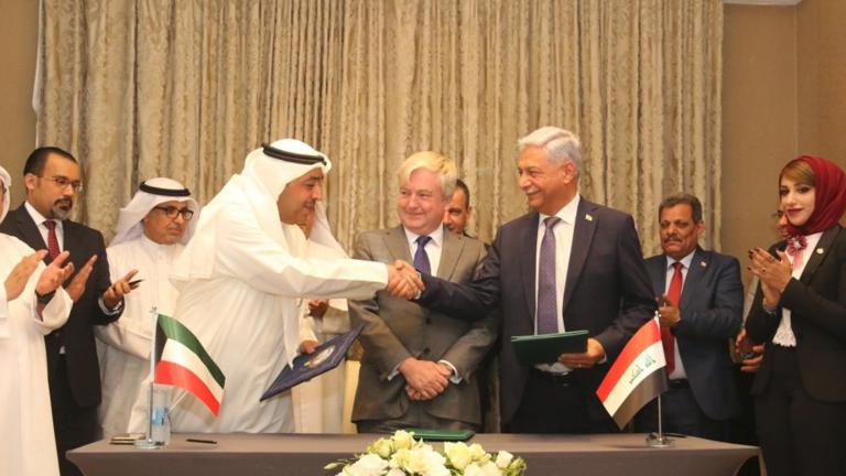عراق و کویت برای توسعه میادین نفتی مرزی قرارداد مطالعاتی امضا کردند
