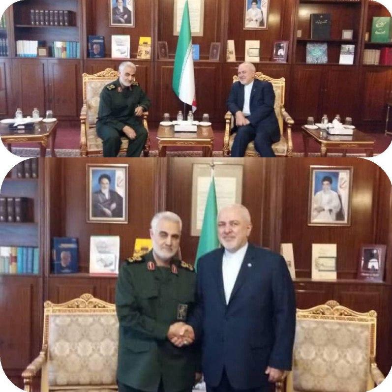دیدار سردار سلیمانی با ظریف در وزارت خارجه (+عکس)