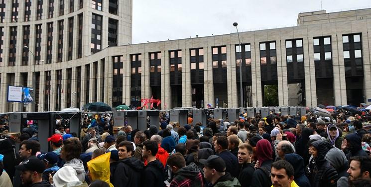 تظاهرات 20 هزار نفری در مسکو