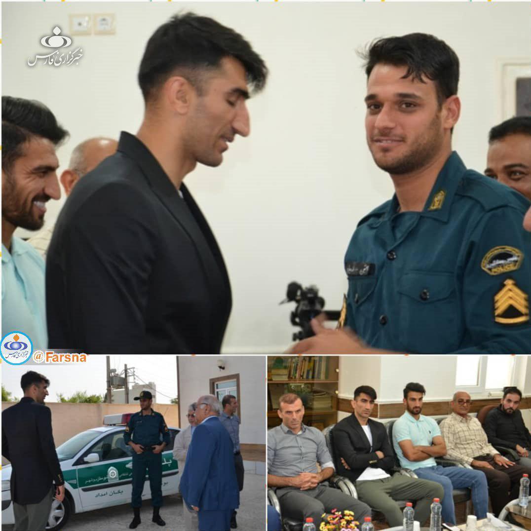 عذرخواهی بیرانوند از مأمور ناجا در بوشهر (+عکس)