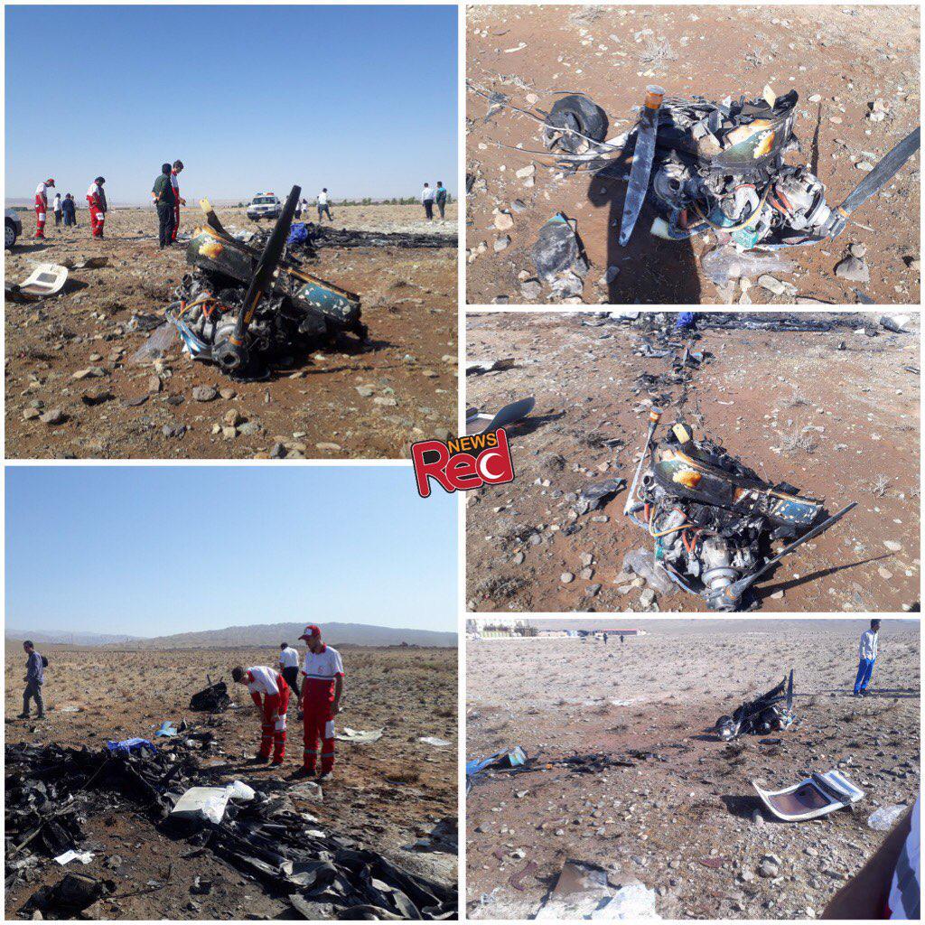 سقوط هواپیمای آموزشی در ایوانکی سمنان/ 2 کشته (+عکس)