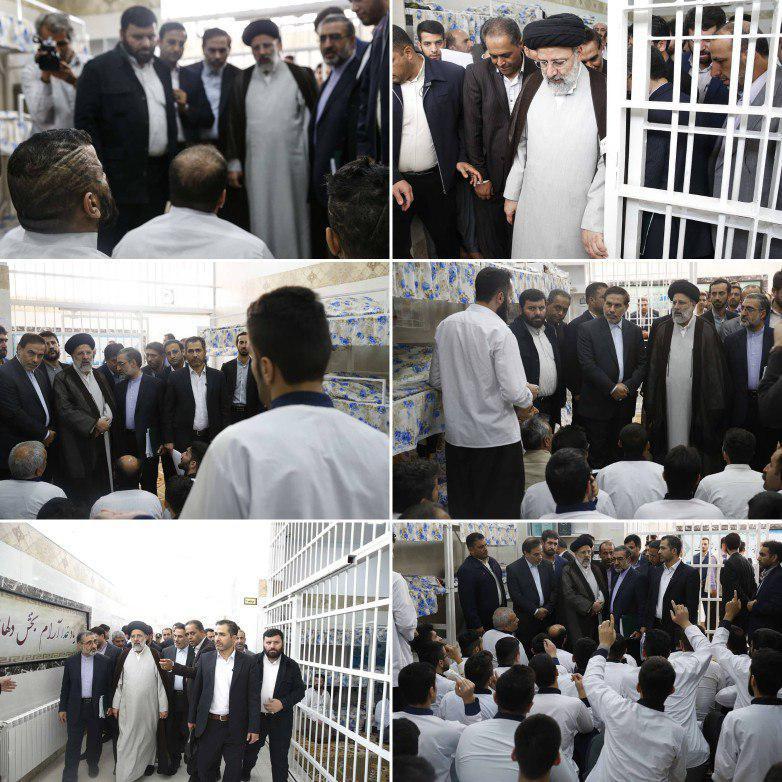 بازدید سرزده رئیس قوه قضاییه از زندان سنندج (عکس)